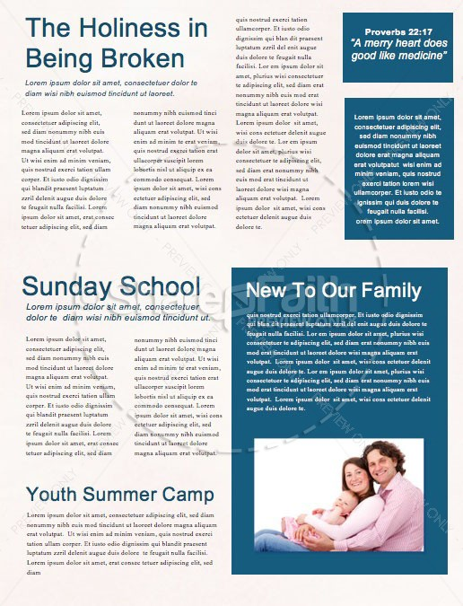 Mother's Day Church Monthly Newsletter