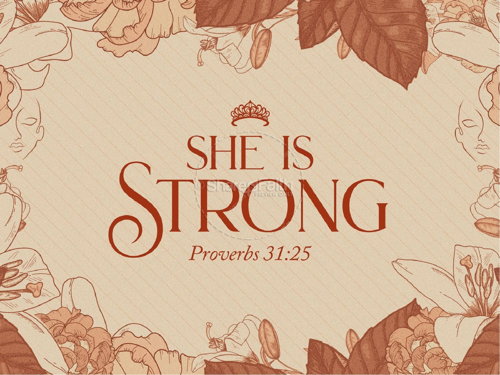 She Is Strong Church PowerPoint   slide 1