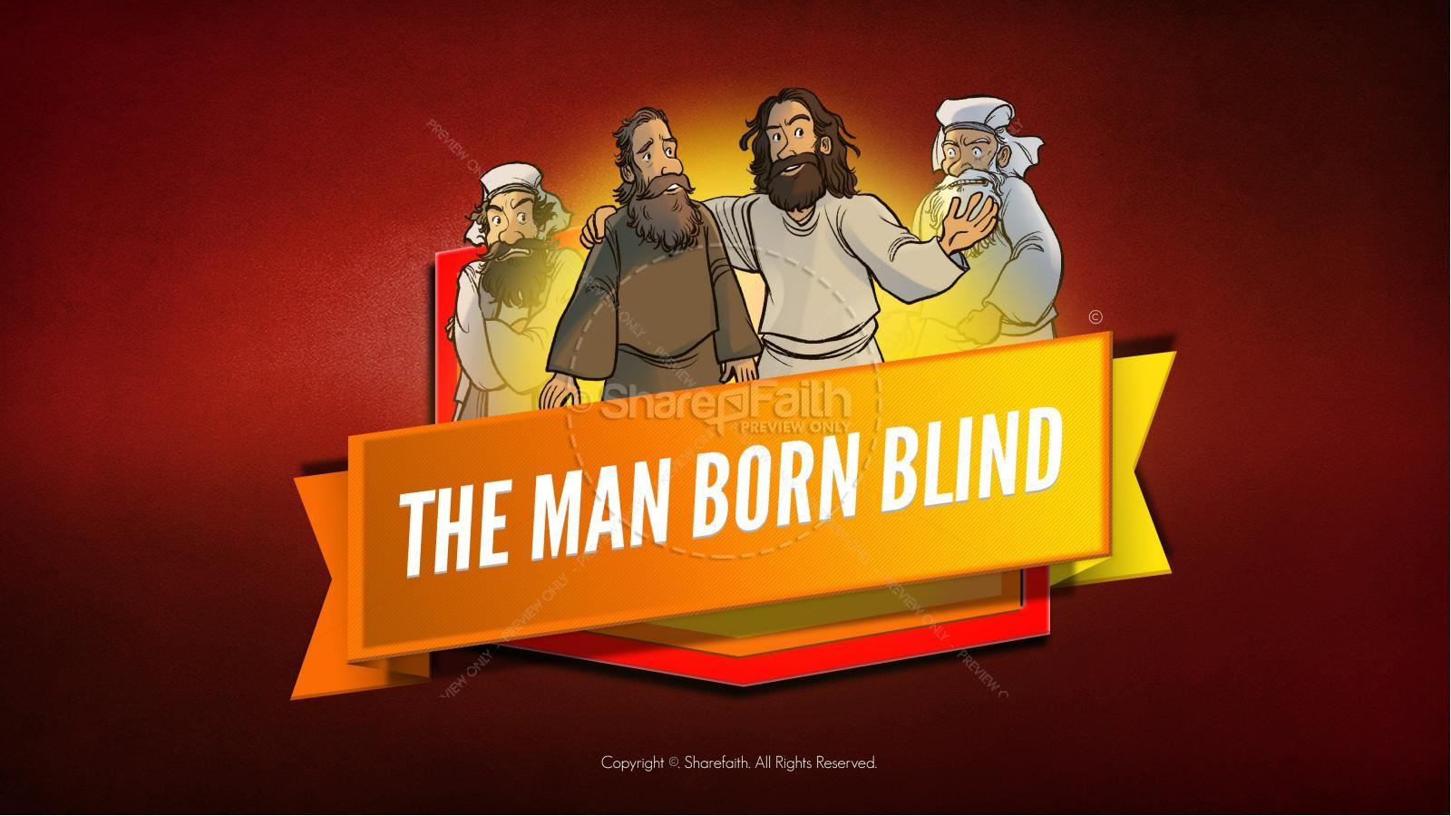 John 9 The Man Born Blind Kids Bible Story | slide 1