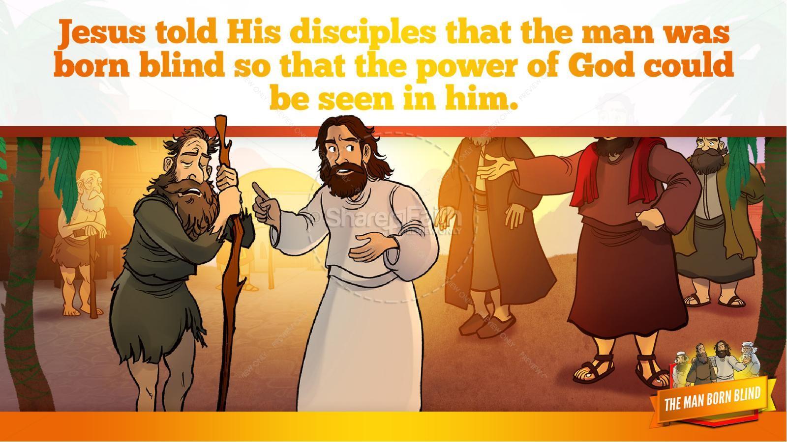 John 9 The Man Born Blind Kids Bible Story | slide 12