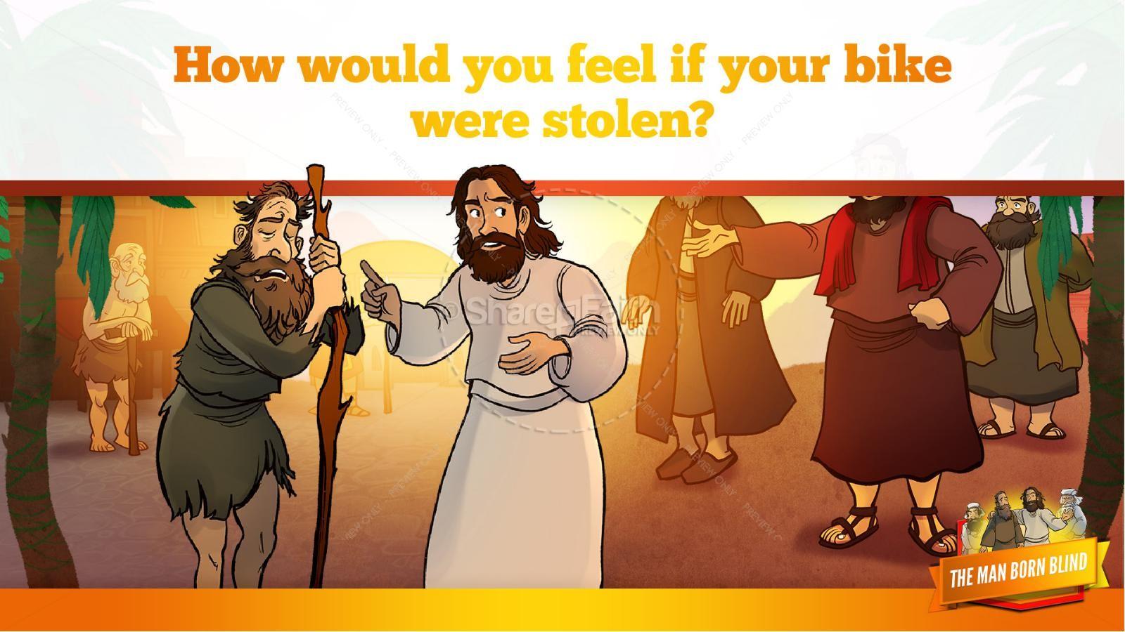 John 9 The Man Born Blind Kids Bible Story | slide 13