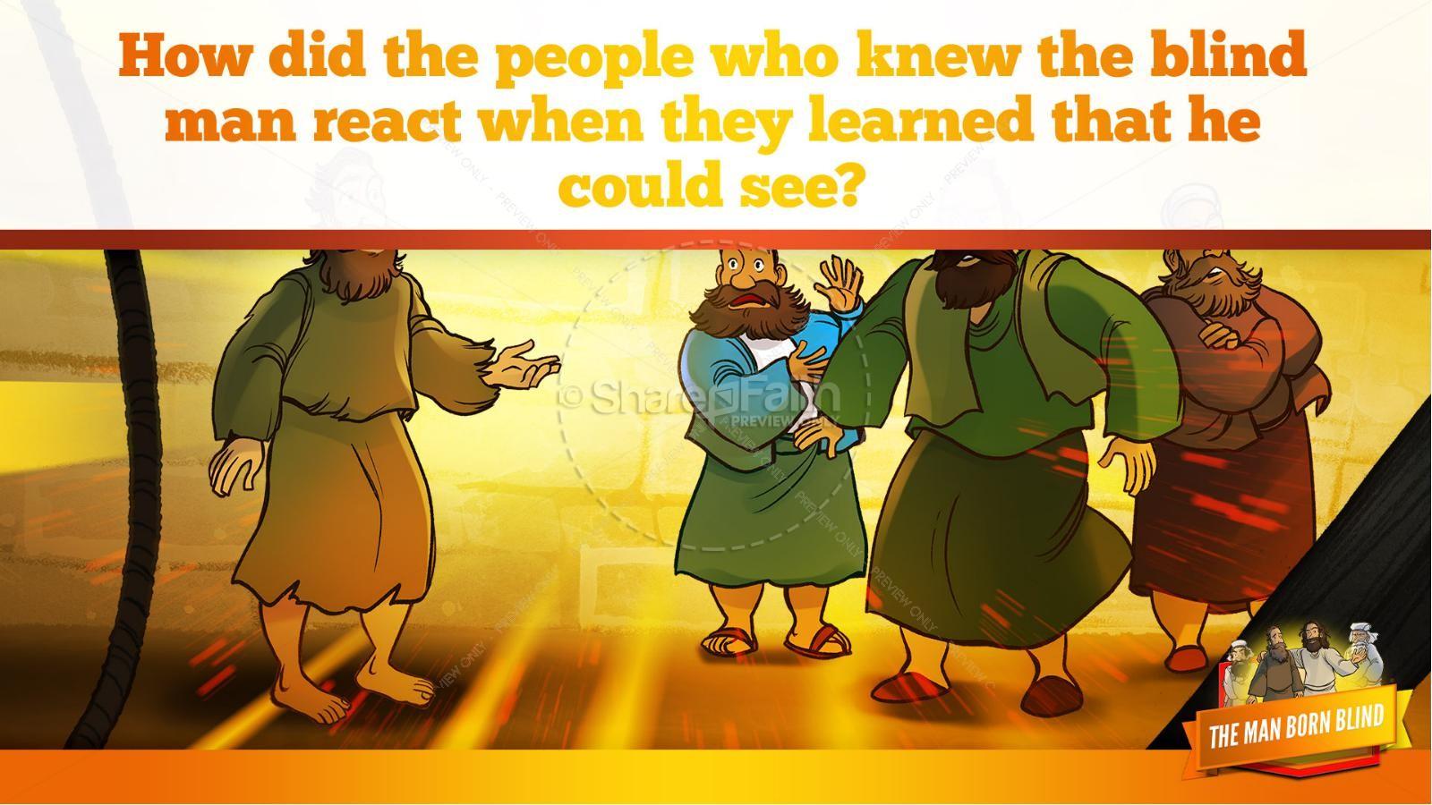 John 9 The Man Born Blind Kids Bible Story   slide 19