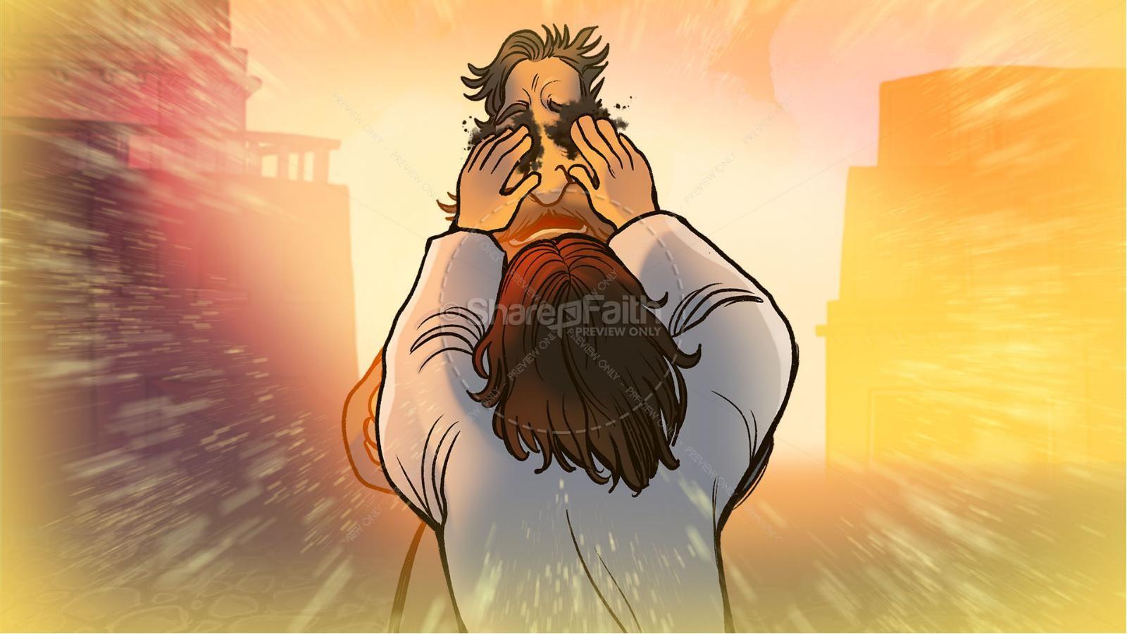 John 9 The Man Born Blind Kids Bible Story | slide 3