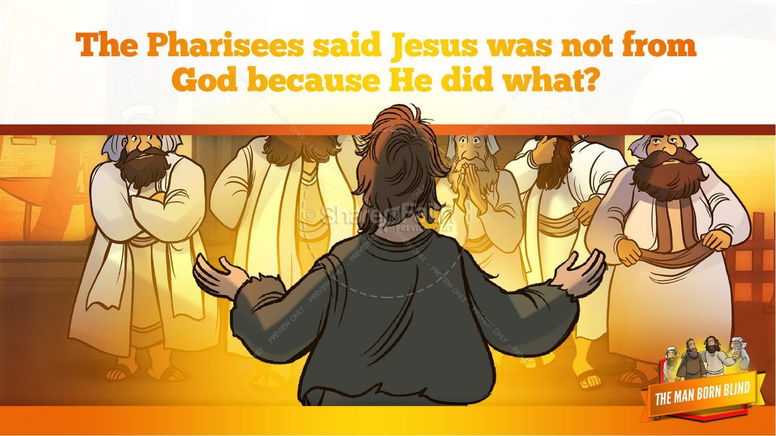 John 9 The Man Born Blind Kids Bible Story | slide 23