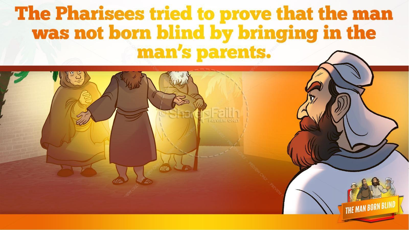 John 9 The Man Born Blind Kids Bible Story | slide 28