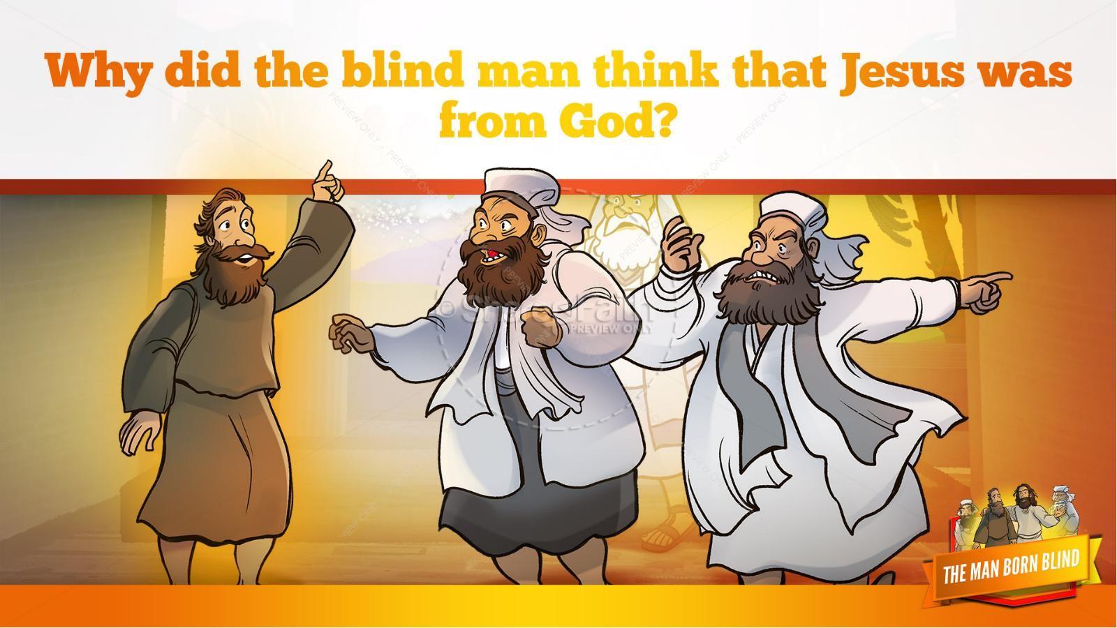 John 9 The Man Born Blind Kids Bible Story | slide 31