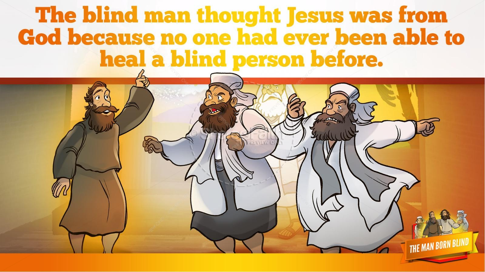 John 9 The Man Born Blind Kids Bible Story | slide 32