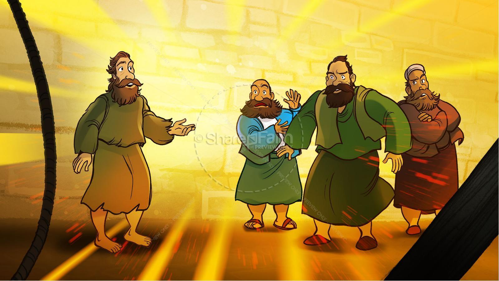 John 9 The Man Born Blind Kids Bible Story | slide 4