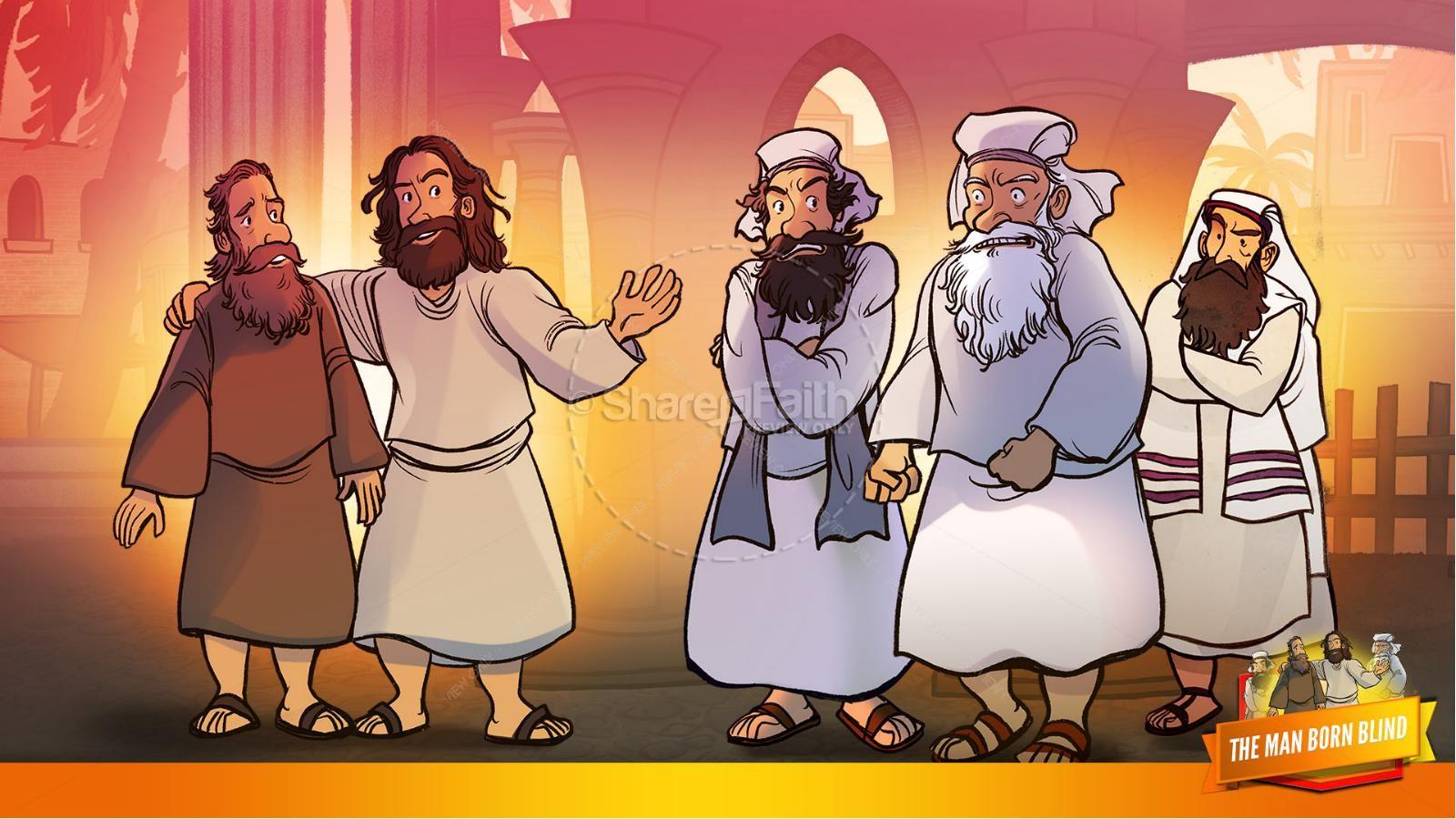 John 9 The Man Born Blind Kids Bible Story | slide 34