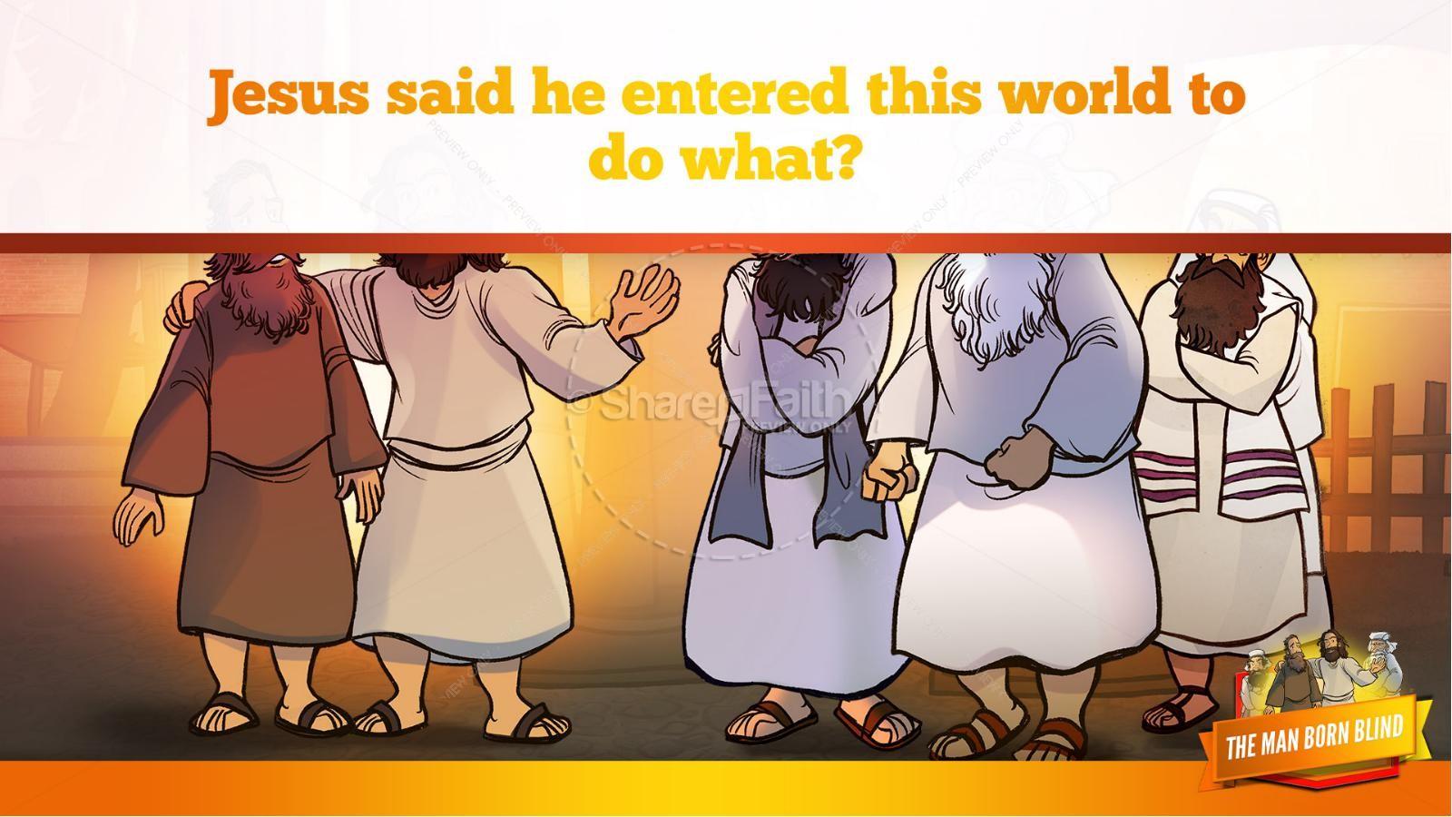 John 9 The Man Born Blind Kids Bible Story | slide 35