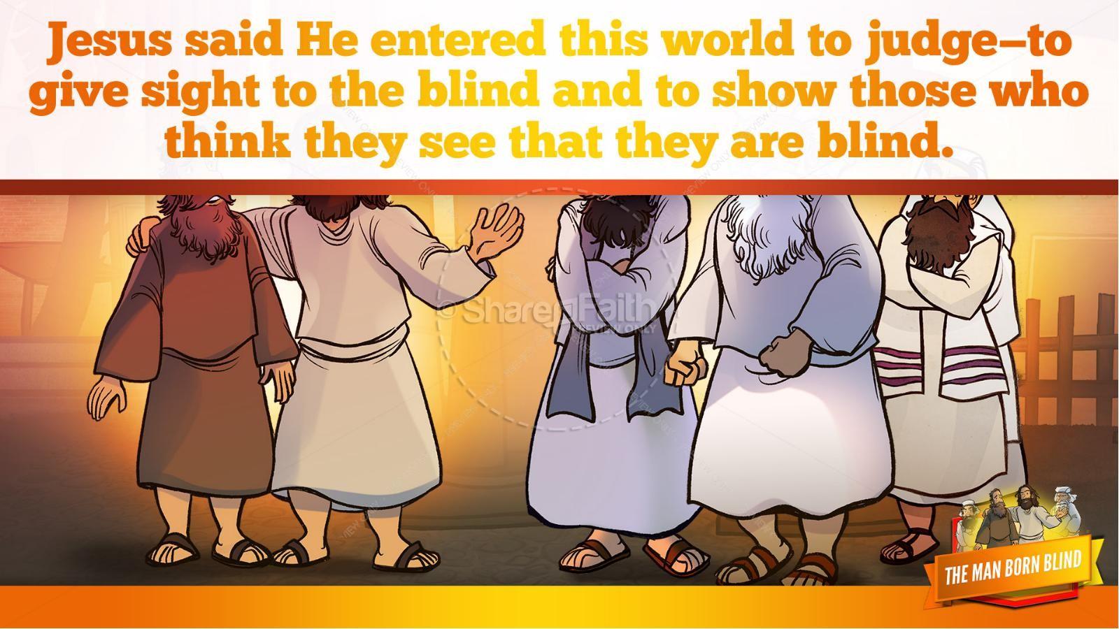 John 9 The Man Born Blind Kids Bible Story | slide 36
