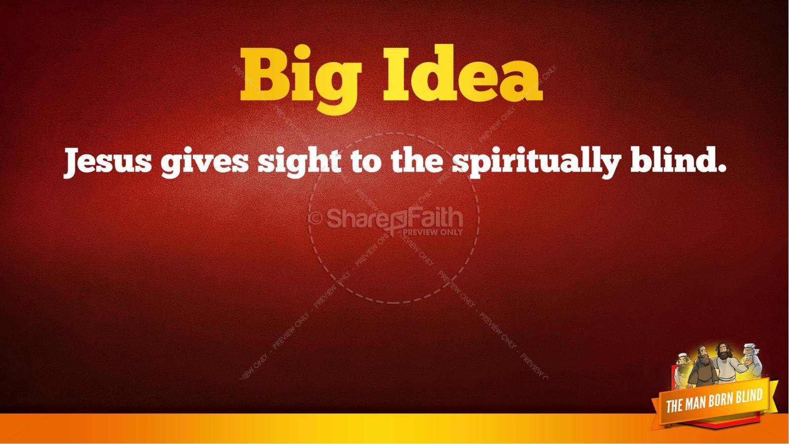 John 9 The Man Born Blind Kids Bible Story | slide 38