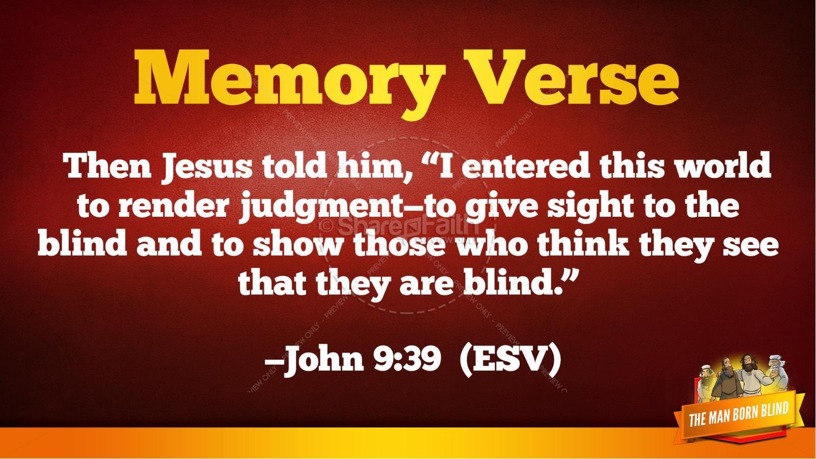 John 9 The Man Born Blind Kids Bible Story | slide 40