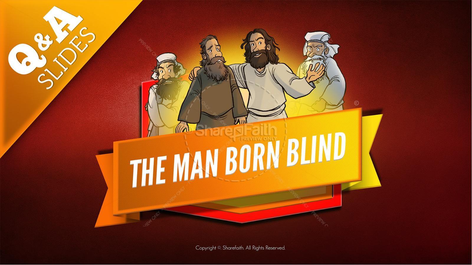 John 9 The Man Born Blind Kids Bible Story   slide 9