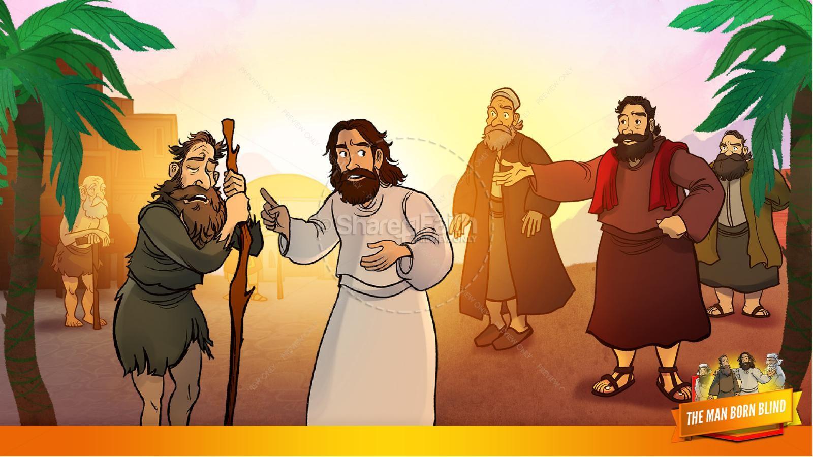 John 9 The Man Born Blind Kids Bible Story   slide 10