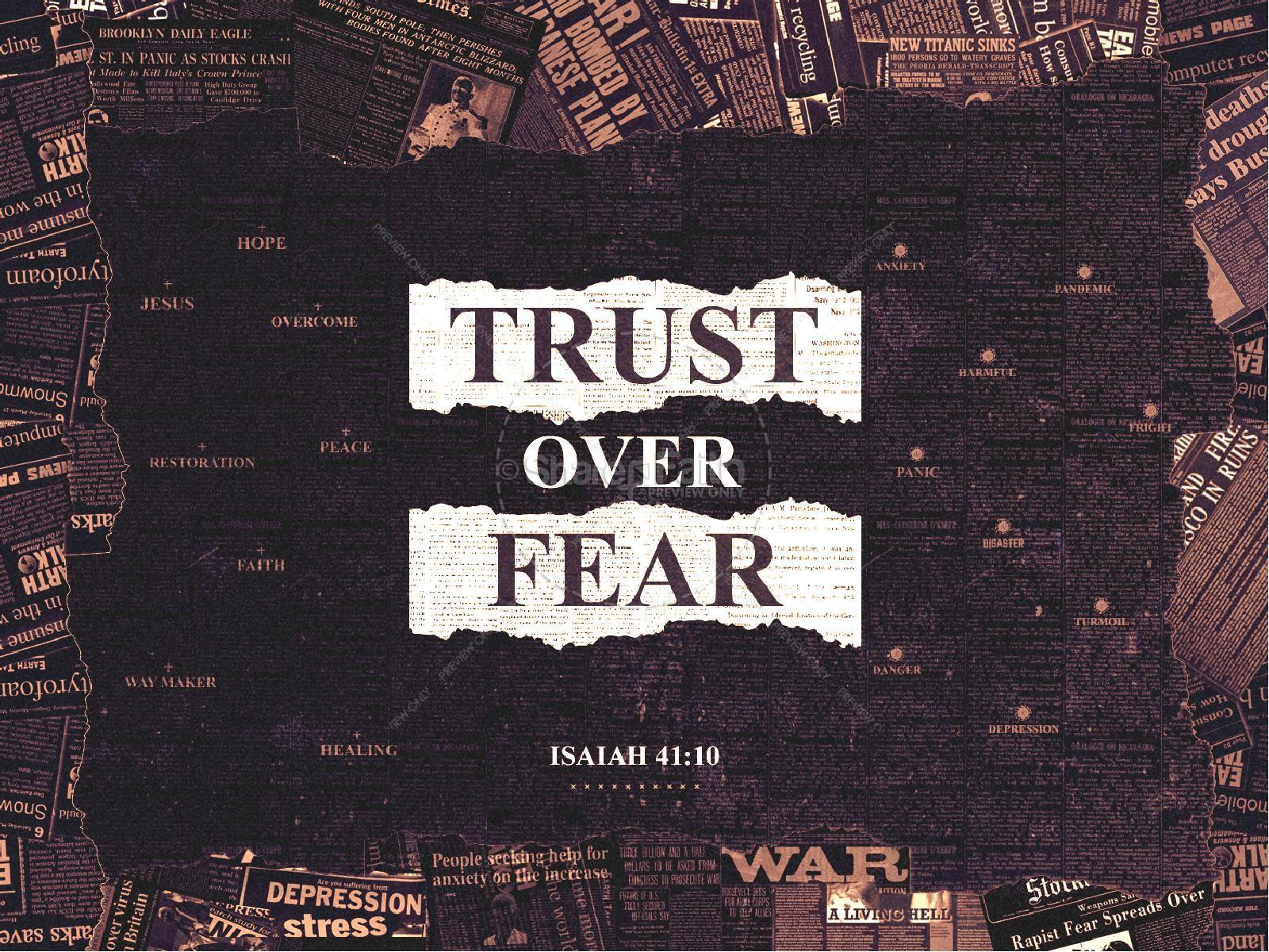 Trust Over Fear Church PowerPoint | slide 1
