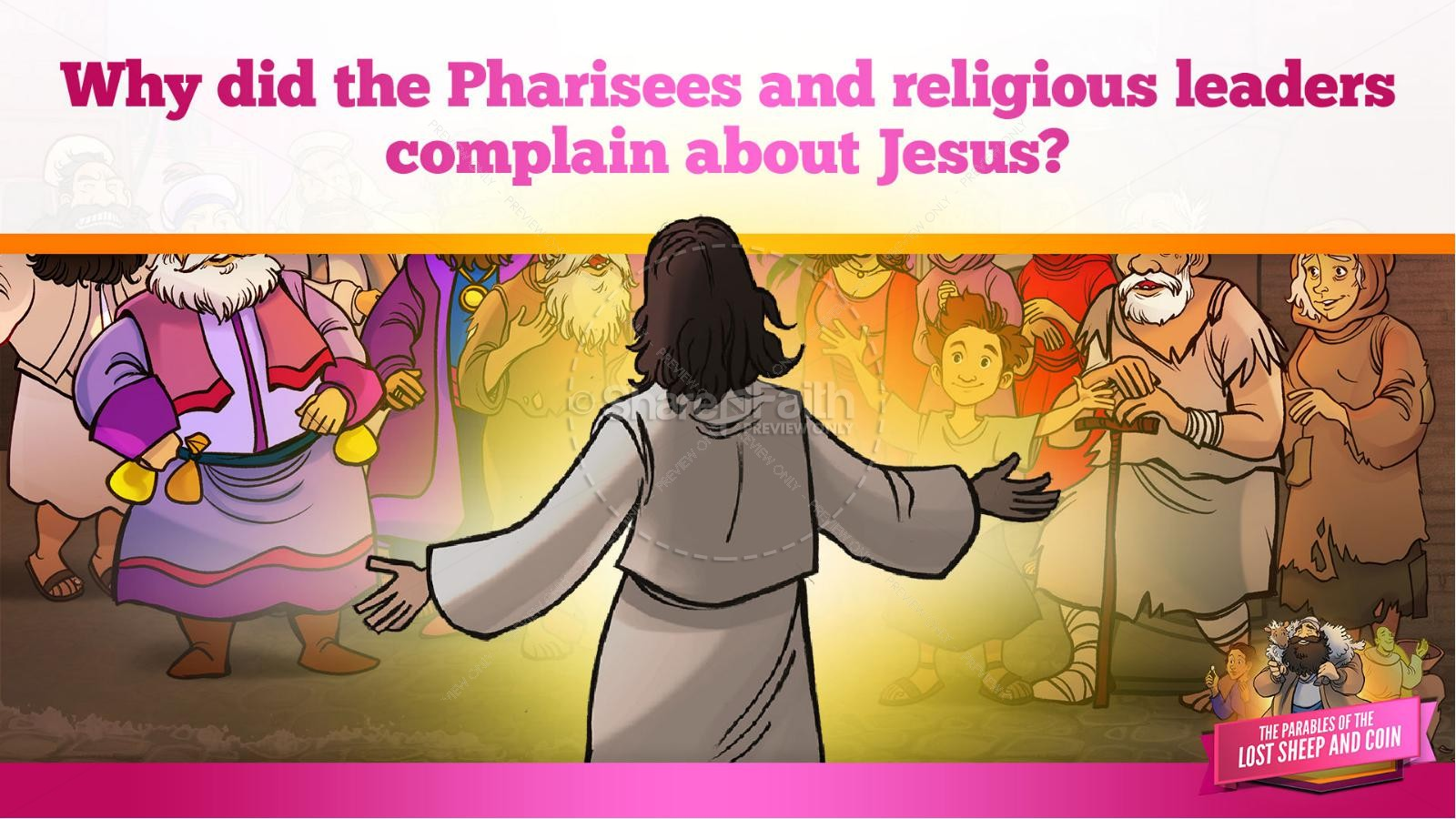 Luke 15 The Parables of the Lost Sheep and Coin Kids Bible Story | slide 11