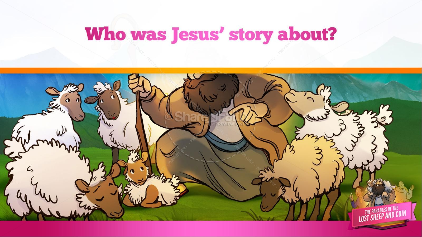 Luke 15 The Parables of the Lost Sheep and Coin Kids Bible Story | slide 15