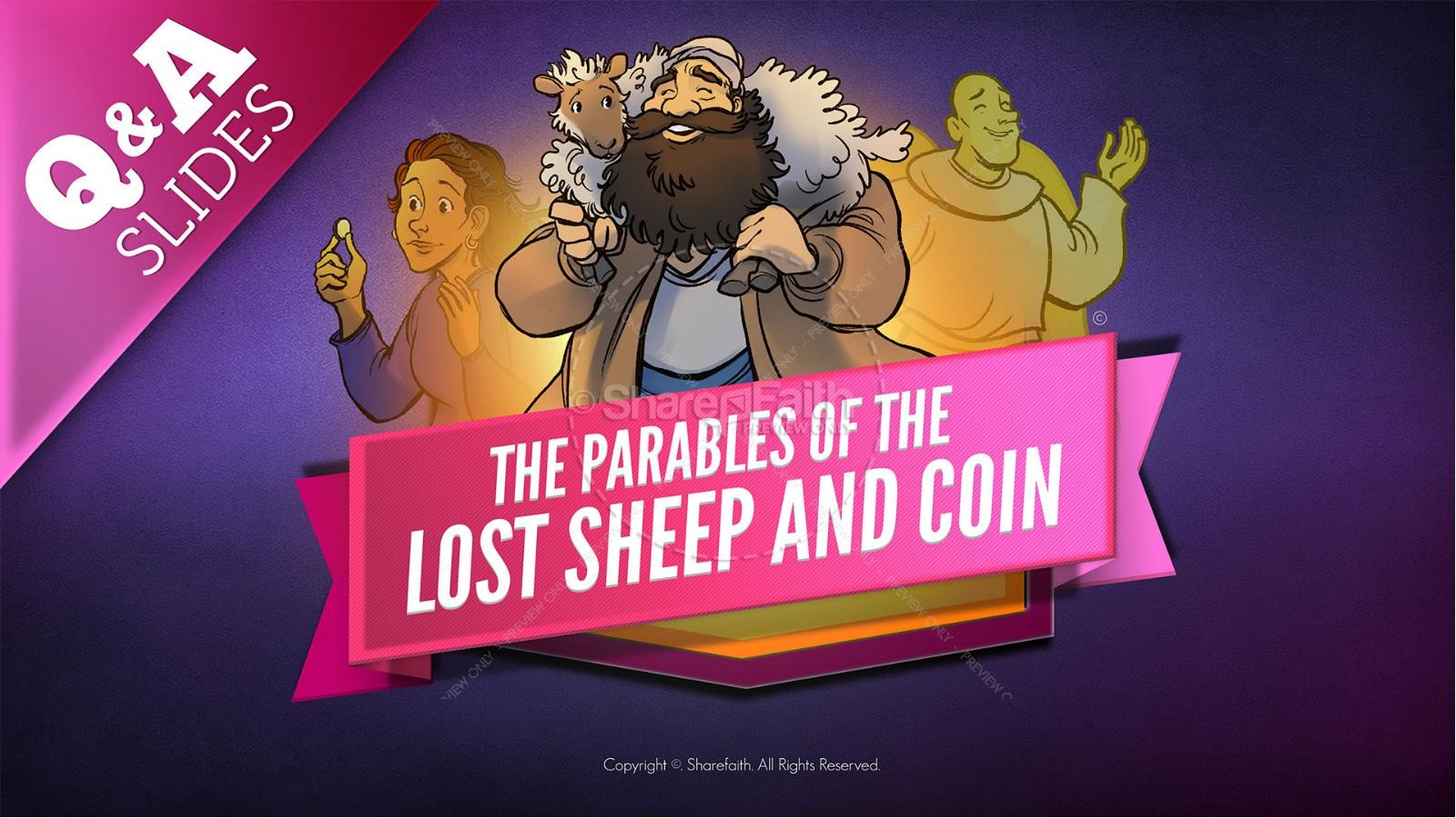 Luke 15 The Parables of the Lost Sheep and Coin Kids Bible Story | slide 9
