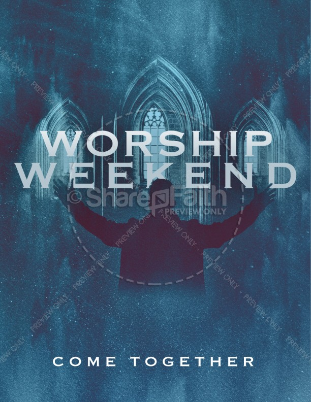 Worship Weekend Church Flyer | page 1