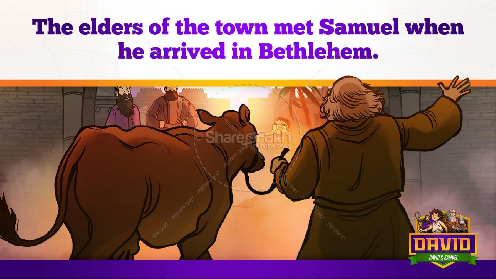 1 Samuel 16 David and Samuel Kids Bible Story | slide 16