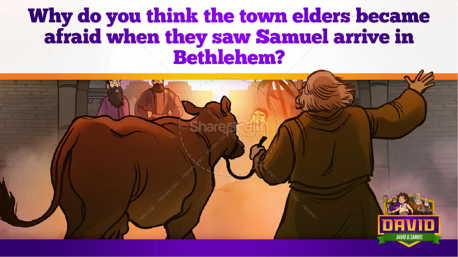 1 Samuel 16 David and Samuel Kids Bible Story | slide 17