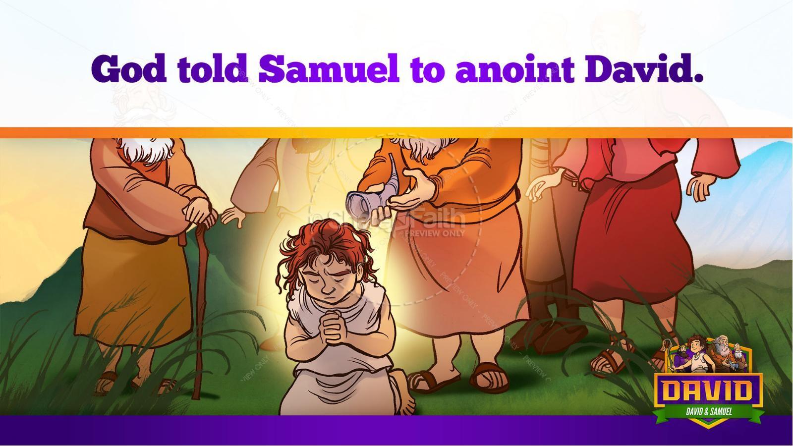 1 Samuel 16 David and Samuel Kids Bible Story | slide 24