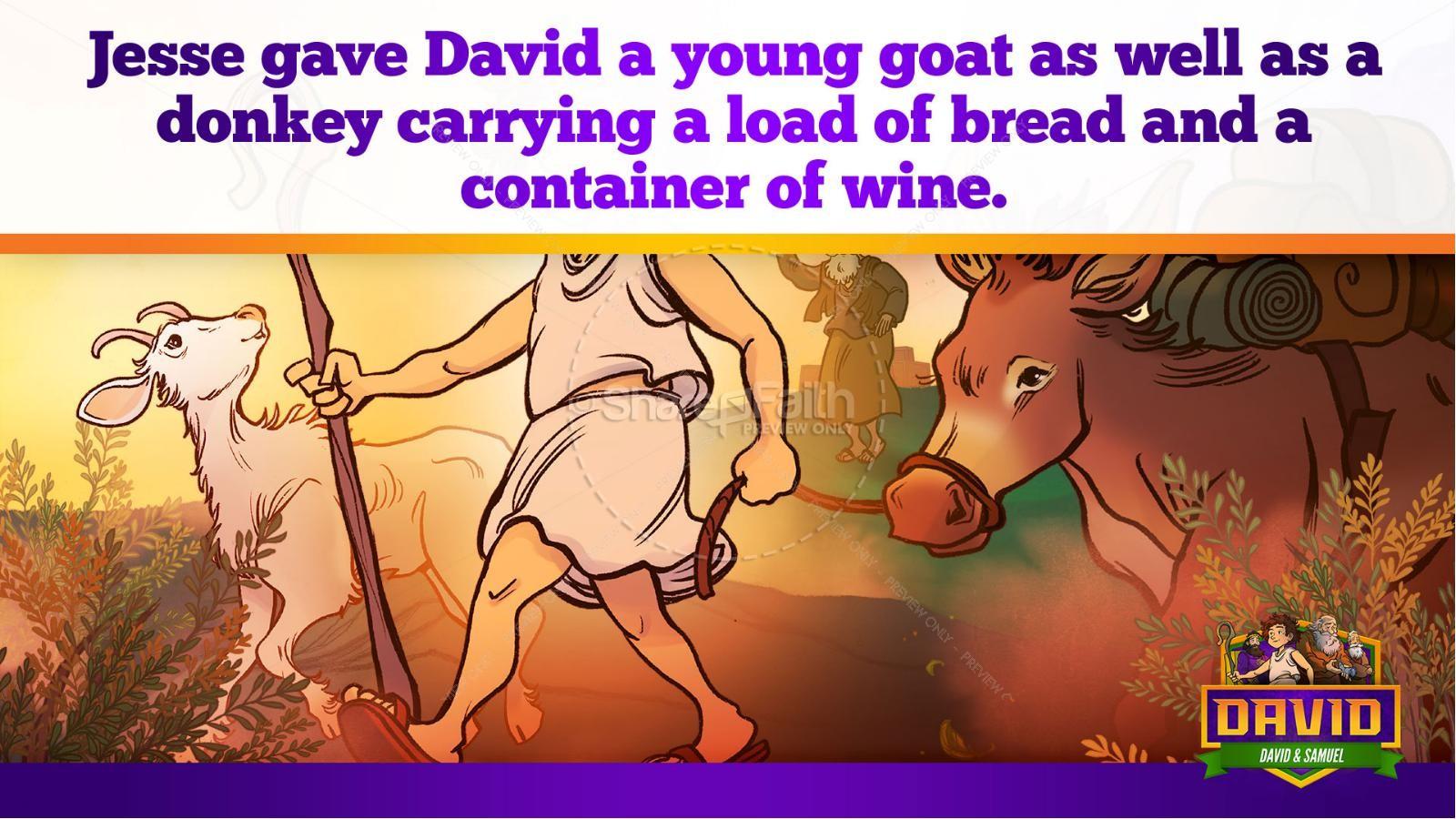 1 Samuel 16 David and Samuel Kids Bible Story | slide 32
