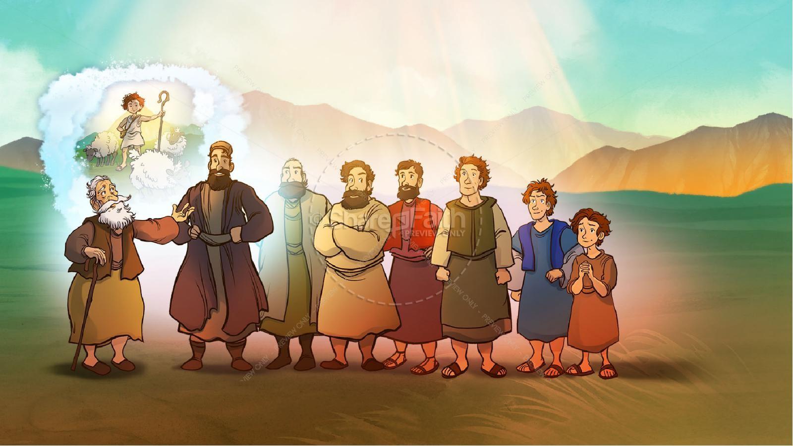 1 Samuel 16 David and Samuel Kids Bible Story | slide 4
