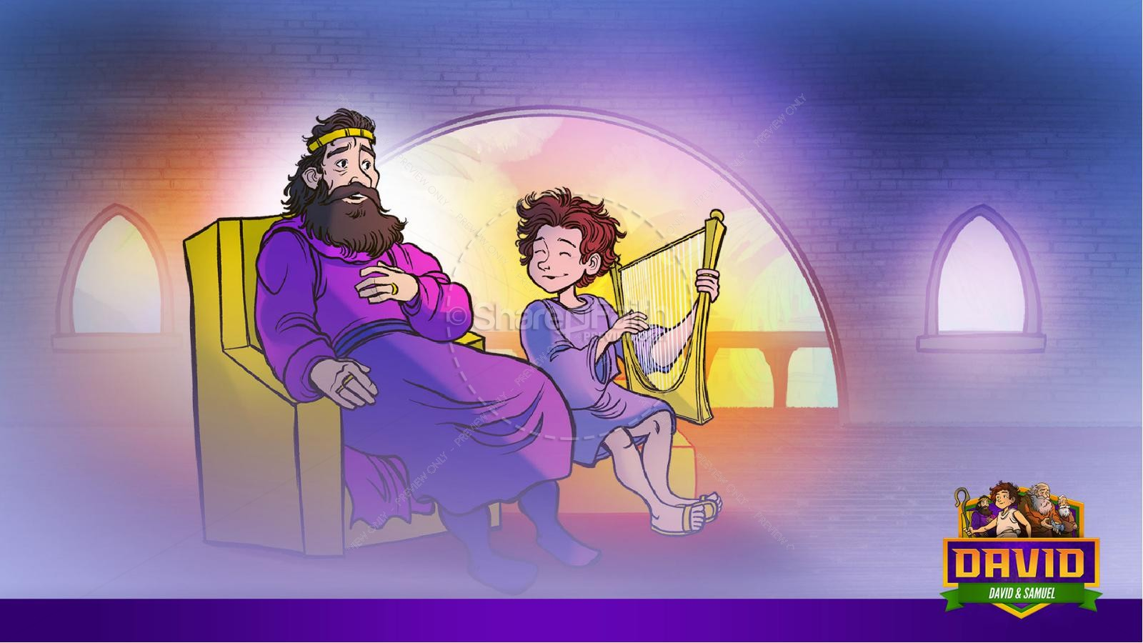 1 Samuel 16 David and Samuel Kids Bible Story   slide 34