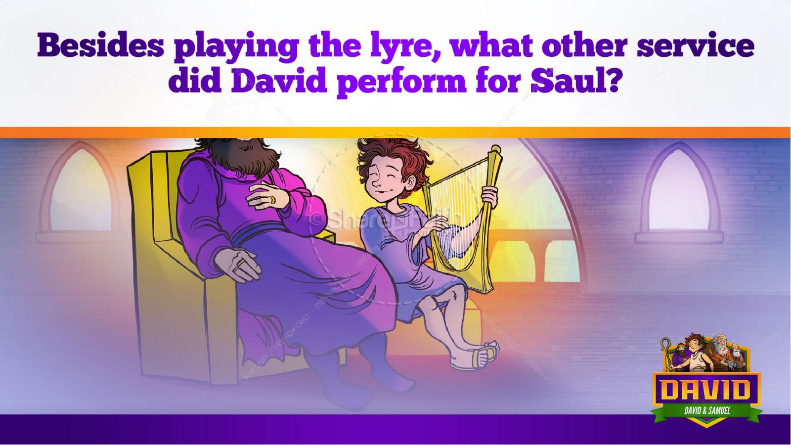 1 Samuel 16 David and Samuel Kids Bible Story | slide 35