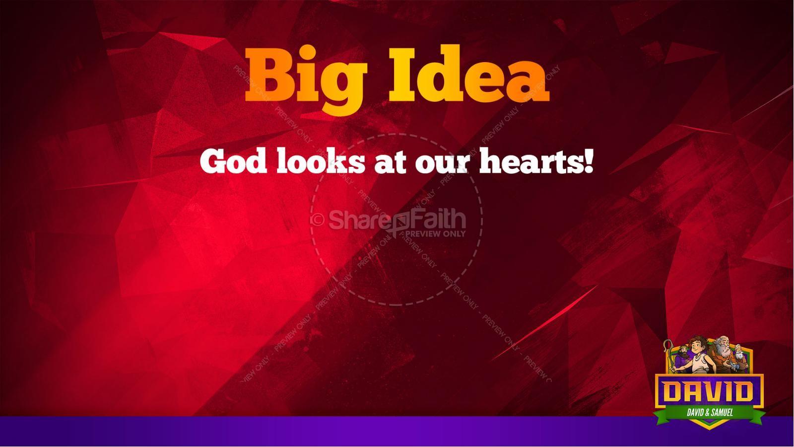 1 Samuel 16 David and Samuel Kids Bible Story | slide 38