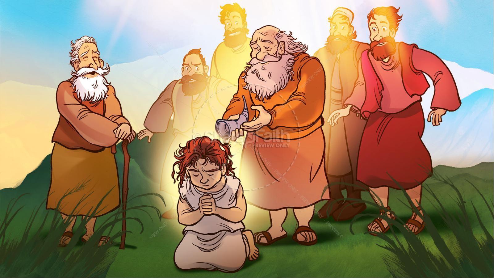 1 Samuel 16 David and Samuel Kids Bible Story | slide 5