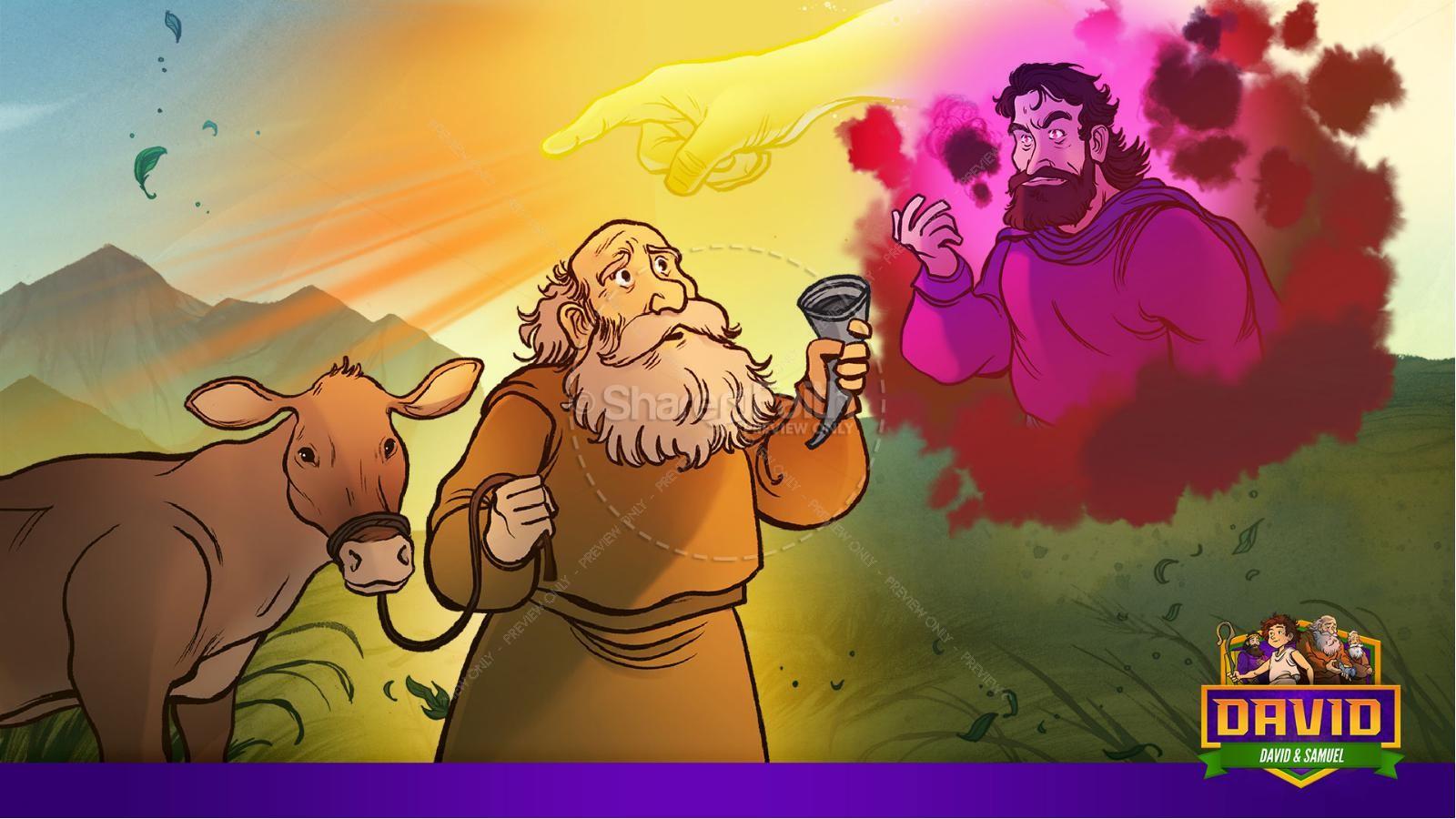 1 Samuel 16 David and Samuel Kids Bible Story | slide 10