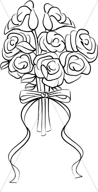 Rose Blossom Bridal Bouquet