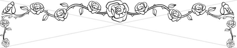 Line Art Rose Page Topper