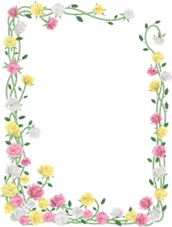 Realistic Spring Flower Curling Frame