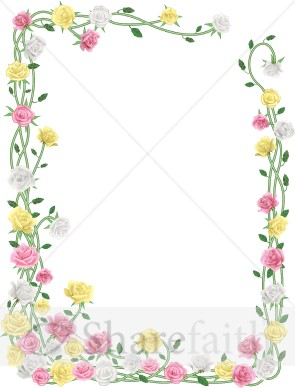 Spring Flower Borders and Frames