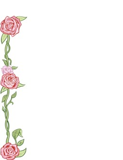 Roses with Vines Page Accent