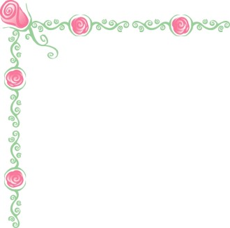 Rose Symbols with Vines Page Corner