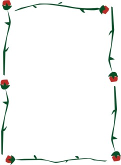 Abstract Rose Stem Frame