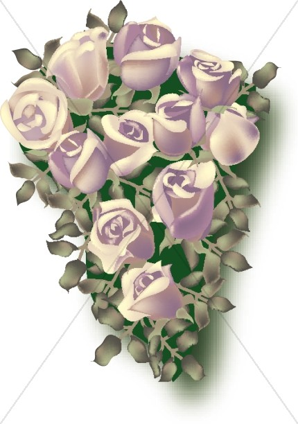 Lavendar Rose Memorial Wall