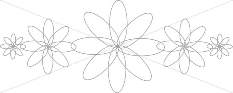 Flower Petals Geometric Design