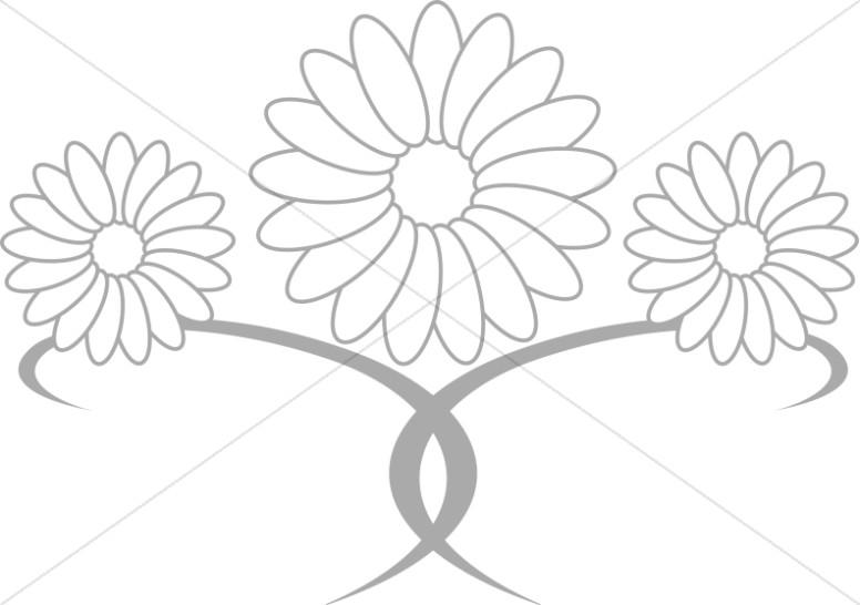 Daisy Flowers Centerpiece