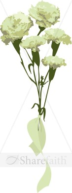 White Carnation Gift Bouquet