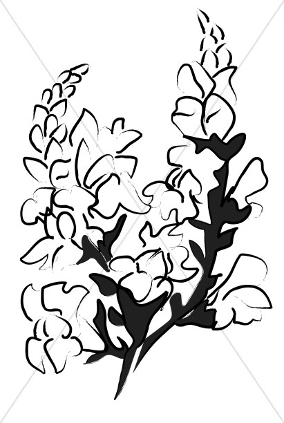 Altar Flower Bouquet Sketch