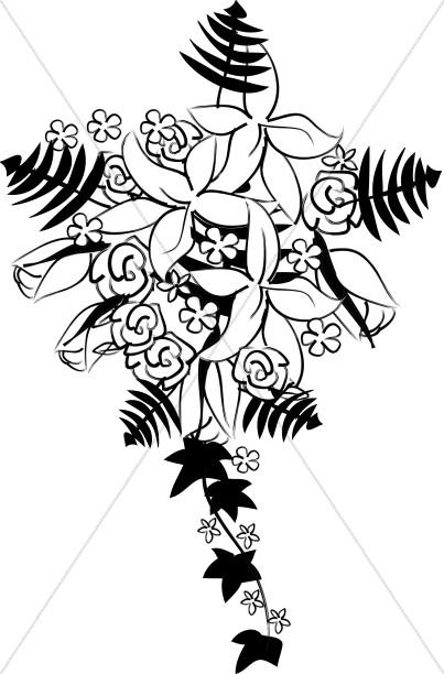 Rose and Vine Bridal Bouquet