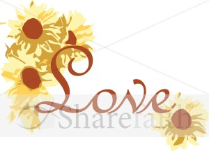 Love with Sunflowers