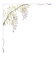 Summer Wisteria Page Corner