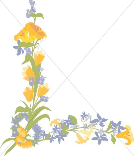 Flower Page Corner
